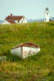 Point Wilson lighthouse, Fort Worden, Washington Stock Photos