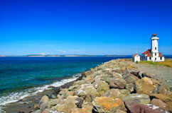 Point Wilson Lighthouse, Port Townsend, Washington Royalty Free Stock Photo