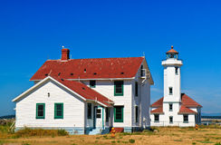 Point Wilson Lighthouse, Port Townsend, Washington Stock Image