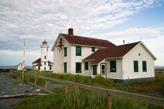 Point Wilson Lighthouse Puget Sound Fort Wordon Stock Photos