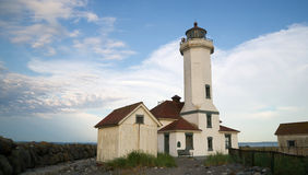 Point Wilson Lighthouse Puget Sound Fort Wordon Stock Image