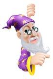 Pointage amical de magicien Photographie stock