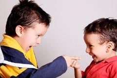 Pointage d'enfants Image stock