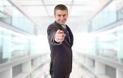 Pointage d'homme d'affaires photos libres de droits