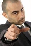 Pointage d'homme d'affaires Photographie stock libre de droits