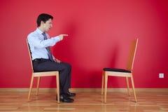Pointage d'homme d'affaires Photo libre de droits