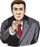 Pointage d'homme d'affaires Photos stock
