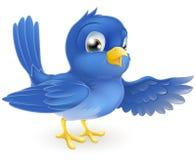 Pointage d'oiseau bleu illustration stock