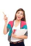 Pointage d'étudiant féminin Photographie stock