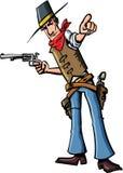Pointage de cowboy de dessin animé Photo stock