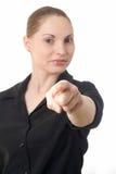 Pointage de femme image libre de droits