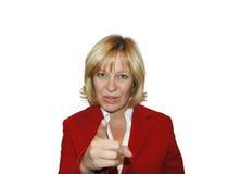 Pointage de femme Photographie stock libre de droits