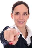 Pointage de femme d'affaires Photos libres de droits