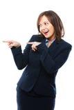 Pointage de femme d'affaires Images libres de droits
