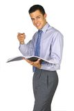 Pointage de l'homme d'affaires Photographie stock