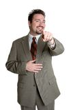 Pointage de l'homme d'affaires Image libre de droits