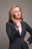 Pointage de la femme d'affaires Image libre de droits