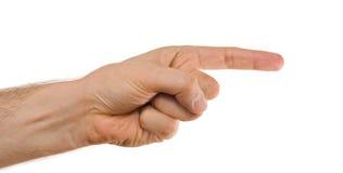 Pointage de la main Photos libres de droits