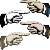 Pointage des doigts Photographie stock libre de droits