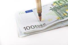 Pointage des euros Images libres de droits