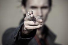 Pointage du doigt photographie stock libre de droits