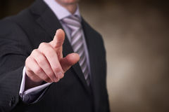 Pointage du doigt photos libres de droits