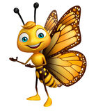 pointage du personnage de dessin animé de papillon Images stock