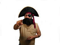 Pointage du pirate Photo stock