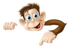 Pointage du singe Photo libre de droits
