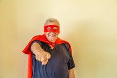 Pointage plus âgé de super héros Photo libre de droits