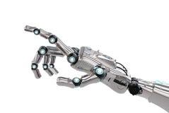 Pointage robotique de main Image stock