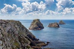 Pointe在克罗宗半岛的du笔Hir,菲尼斯泰尔省部门, 库存照片