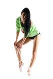 pointe火车的芭蕾舞女演员 库存图片