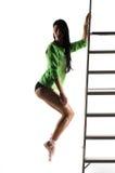 pointe火车的芭蕾舞女演员 库存照片