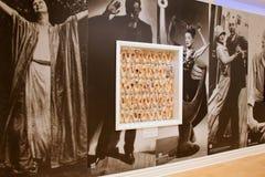 pointe的被构筑的收藏在陈列著名舞蹈家,舞蹈博物馆,萨拉托加斯普林斯,纽约的墙壁穿上鞋子, 2016年 免版税库存照片