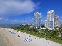 Pointe пляжных кондо Miami Beach южное Стоковые Фото