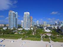 Pointe пляжных кондо Miami Beach южное Стоковое Изображение RF