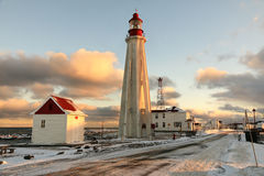 Pointe-Au-Pere de phare, Québec, Canada Photo libre de droits
