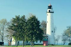 Pointe aux Barques Lighthouse, built in 1848. Lake Huron, Michigan, USA Stock Images