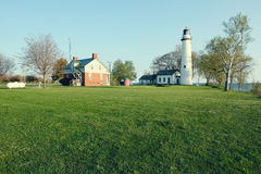 Pointe aux Barques Lighthouse, built in 1848. Lake Huron, Michigan, USA Royalty Free Stock Photography