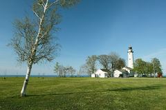 Pointe aux Barques Lighthouse, built in 1848 Royalty Free Stock Photos