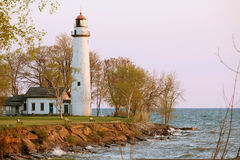 Pointe aux Barques Lighthouse, built in 1848 Stock Photos