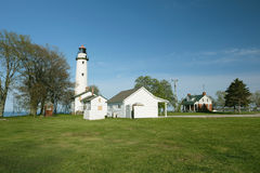 Pointe aux Barques Lighthouse, built in 1848. Lake Huron, Michigan, USA Stock Photography