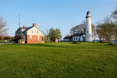 Pointe aux Barques Lighthouse, built in 1848 Stock Images