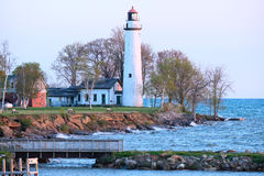 Pointe aux Barques Lighthouse, built in 1848 Royalty Free Stock Photo