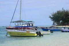 Αφρική, γραφική περιοχή του Λα Pointe Aux Canonniers σε Mauritiu Στοκ Εικόνες