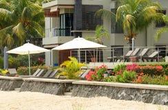 Αφρική, γραφική περιοχή του Λα Pointe Aux Canonniers σε Mauritiu Στοκ Φωτογραφία