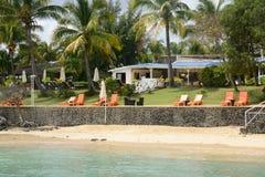 Αφρική, γραφική περιοχή του Λα Pointe Aux Canonniers σε Mauritiu Στοκ Φωτογραφίες