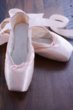 Pointe Ballet Shoes closeup Royalty Free Stock Image