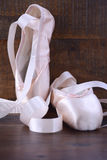 Pointe Ballet Shoes vertical. Stock Images